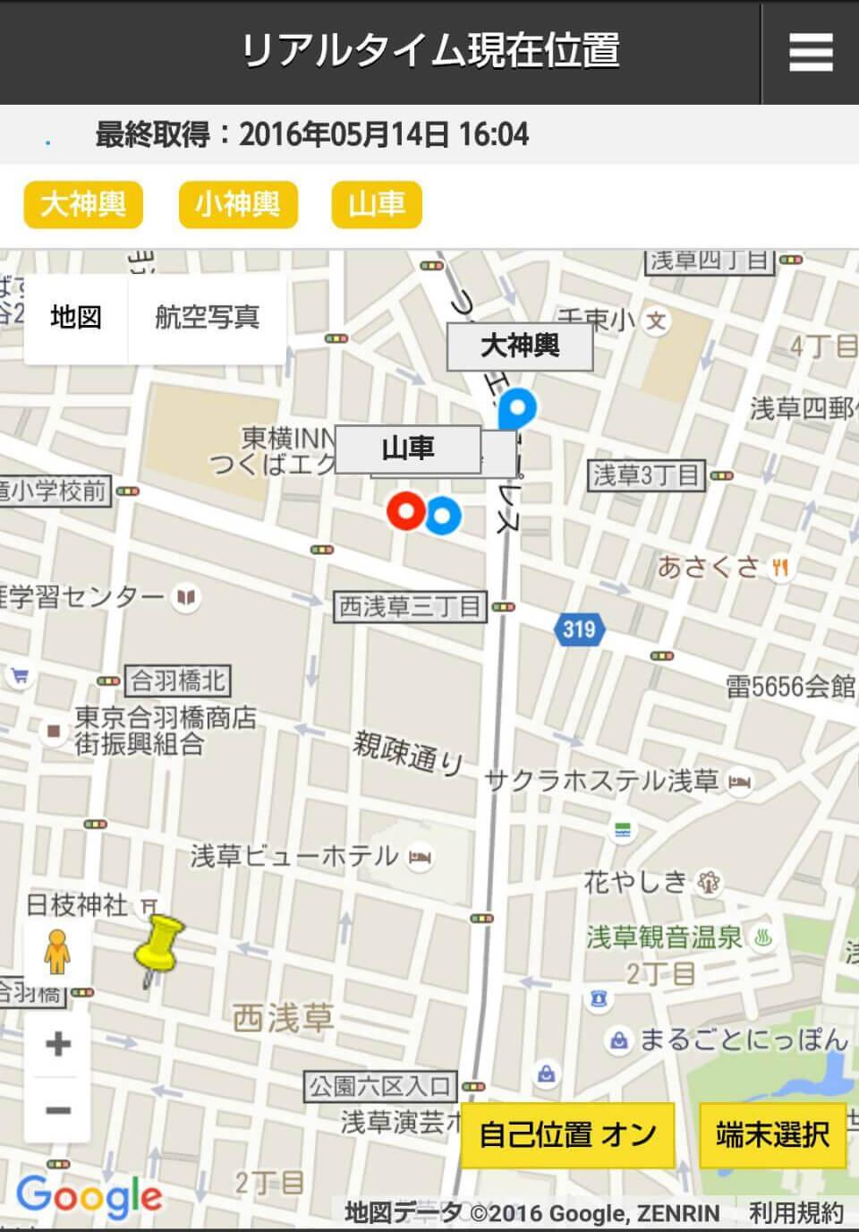 GPS画面
