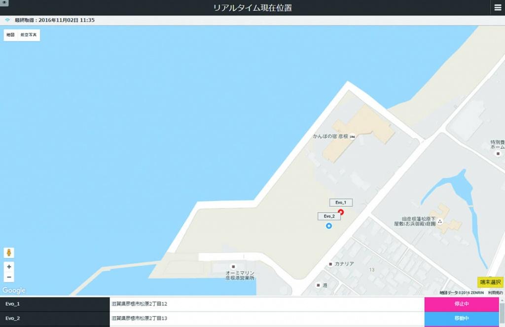 GPSパソコン画面