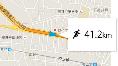 GPSnextのスピード表示
